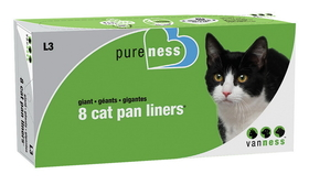 Van Ness Plastic Molding Giant Cat Pan Liners / 8 Pack - L3