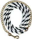 Beiler S Cotton Lead Rope With Chain - Black And White - 6 Foot