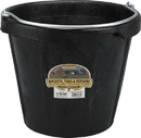 Miller Little Giant Rubber Bucket With Pouring Lip - Black - 18 Quart