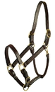 Gatsby Leather Classic Adjustable Halter - Havanna Brown - Horse