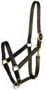 Gatsby Leather Stable Halter With Snap - Havanna Brown - Large Horse
