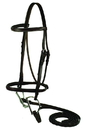 Gatsby Leather Square Raised Bridle - Havanna Brown - Horse