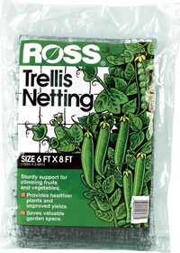 Easy Gardener Ross Trellis Netting Black / 6 X 8 Feet - 16037