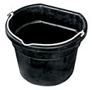 Farm Innovators Heated Flat-Back Rubber Bucket - Black - 4.5 Gallon