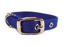 Hamilton Single Thick Nylon Dog Collar - Blue - 5/8  X 12