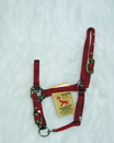 Hamilton Adjustable Chin Horse Halter With Snap - Red - Foal