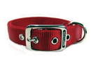 Hamilton Double Thick Nylon Dog Collar - Red - 1X20 Inch