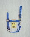 Hamilton Adjustable Chin Horse Halter With Snap - Blue - Large
