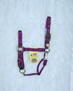 Hamilton Adjustable Chin Horse Halter With Snap - Wine - Large