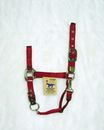 Hamilton Adjustable Chin Horse Halter With Snap - Red - Average