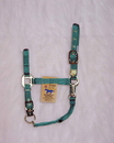 Hamilton Adjustable Chin Horse Halter With Snap - Green - Average