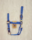 Hamilton Adjustable Chin Horse Halter With Snap - Blue - Average