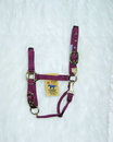 Hamilton Adjustable Chin Horse Halter With Snap - Wine - Average