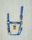 Hamilton Adjustable Chin Horse Halter With Snap - Blue - Small