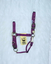 Hamilton Adjustable Chin Horse Halter With Snap - Wine - Small