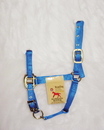 Hamilton Adjustable Chin Horse Halter With Snap - Blue - Weanling