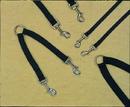 Hamilton Nyln Dbl Coupler Wlkng 2 Dogs - Black - 3/4  X 12