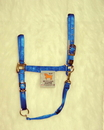 Hamilton Adjustable Chin Horse Halter With Snap - Blue - Extra Large