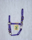 Hamilton Adjustable Chin Horse Halter With Snap - Purple - Yearling