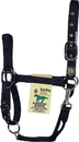 Hamilton Adjustable Chin Horse Halter With Snap - Black - Yearling