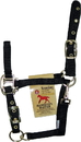 Hamilton Adjustable Chin Horse Halter With Snap - Black - Weanling