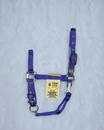 Hamilton Adjustable Chin Horse Halter With Snap - Purple - Large