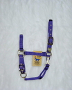 Hamilton Adjustable Chin Horse Halter With Snap - Purple - Average