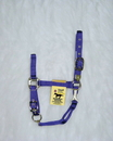 Hamilton Adjustable Chin Horse Halter With Snap - Purple - Small