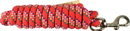 Hamilton Poly Lead With Bolt Snap - Confetti Red - 10 Foot
