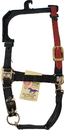 Hamilton Adjustable Horse Halter With Leather Headpole - Black - Average