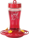 Homestead/Gardner Glass Hummingbird Feeder - Red - 12 Ounce Cap