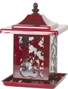 Homestead/Gardner Hummingbird Lantern Feeder - Red - 5.5 Lb Capacity