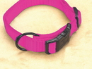 Hamilton Adjustable Dog Collar - Hot Pink - 3/4  X 16-22