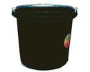 Fortex Flat Back Bucket - Black - 24 Quart