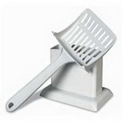 Petmate Handy Stand Litter Scoop White / 3.8 Inch - 26501