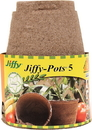 Ferry-Morse Jiffy-Pots Seed Starters - Brown - 5 Inch/6 Pack