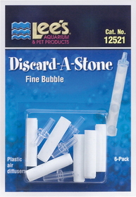 Lee S Aquarium & Pet Discard-A-Stone Fine Diffusair / 6 Pack - 12521