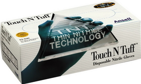 Ansell Edmont Touch N Tuff Disposable Nitrile Glove Teal / Medium - 92-500M