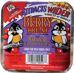 C And S Berry Suet Treat Berry / 11.75 Ounce - Cs12527