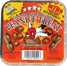 C And S Peanut Suet Treat Peanut / 11 Ounce - Cs12509