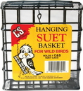 C & S Hanging Plastic Coated Wire Suet Basket - Black - 1.8X4.9X5.2 In