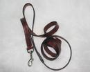 Hamilton Leather Lead - Burgundy - 3/4  X 6
