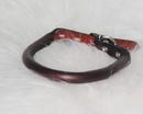 Hamilton Rolled Leather Collar - Burgundy - 1/2  X 14