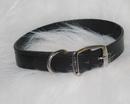 Hamilton Creased Leather Collar - Black - 1  X 22
