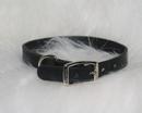 Hamilton Creased Leather Collar - Black - 3/4  X 20