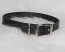 Hamilton Creased Leather Collar - Black - 3/4  X 18