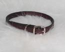 Hamilton Creased Leather Collar - Burgundy - 1/2  X 14