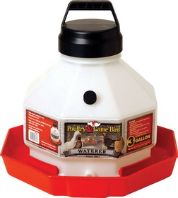Miller Plastic Poultry Waterer Red / 3 Gallon - Ppf-3