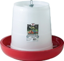 Miller Little Giant Hanging Feeder For Poultry - Red - 22 Pound