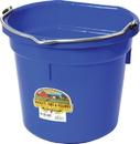 Miller Little Giant Plastic Flat Back Bucket - Blue - 20 Quart